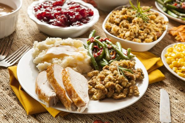 Thanksgiving meal plate